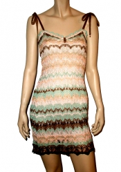 CROCHELLE Multicolored Lace Dress