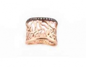 FACHIDIS Rose Gold Ring With Diamonds
