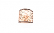 FACHIDIS Rose Gold Ring With 0.30ct Diamonds