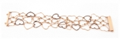 FACHIDIS Rose Gold Bracelet With Diamonds