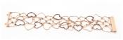 FACHIDIS Rose Gold Bracelet With Diamonds