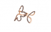 FACHIDIS Rose Gold Ring With Black Rhodium And Diamonds 0,25ct.