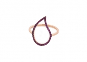 FACHIDIS Rose Gold Ring With Rubies