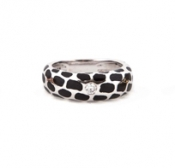 FACHIDIS White Gold Ring With Diamonds 18k