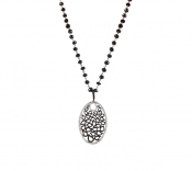 FACHIDIS White Gold Pendant With Black Rhodium And Diamonds