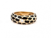 FACHIDIS Yellow Gold Ring With Diamonds 18k
