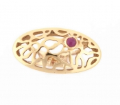 FACHIDIS Yellow Gold Ring With Ruby
