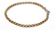 FACHIDIS Yellow And White Gold Necklace With Diamonds
