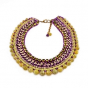 LAMPRINI Necklace Purple Daisy