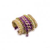 LAMPRINI Bracelet Purple Daisy