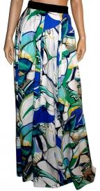 OURANIA KAY High-Waist Floral Maxi Skirt