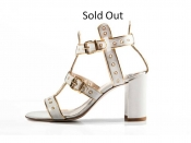 STATHIS SAMANTAS White Kidskin Studded Sandal (Sold Out)