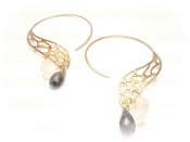 TONIA MAKRI Earrings With Moon Stone & Iolites