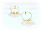 TONIA MAKRI Earrings With Rose Quartz 3
