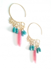 TONIA MAKRI Earrings With Amazonite & Jade