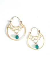 TONIA MAKRI Earrings With Green Onyx