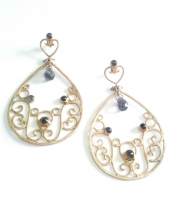 TONIA MAKRI Earrings With Iolites