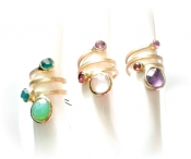 TONIA MAKRI Rings With Semiprecious Stones