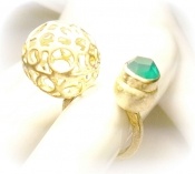 TONIA MAKRI Ring With Green Agate 1