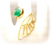 TONIA MAKRI Ring With Green Agate 2